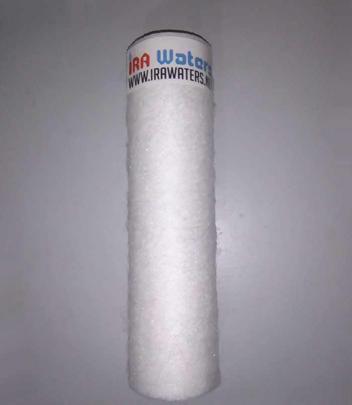 Fluffy pre filter cartridge with softener